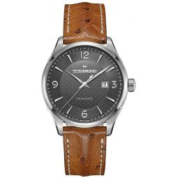 Mens Hamilton Jazzmaster Viewmatic Leather Automatic Watch H32755851