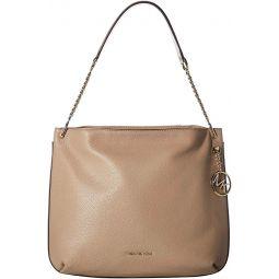 MICHAEL Michael Kors Lillie Large Zip Hobo Bag - Truffle