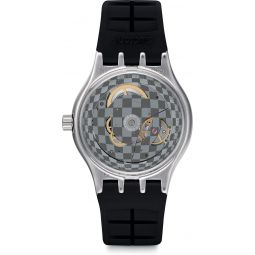Swatch Mens Analogue Quartz Watch with Rubber Strap YIS419