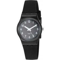Swatch Womens New Core Quartz Silicone Strap, Black, 12 Casual Watch (Model: LB170E)