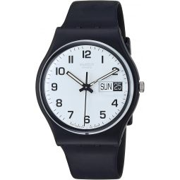 Swatch Womens GB743 Once Again Black Plastic Watch
