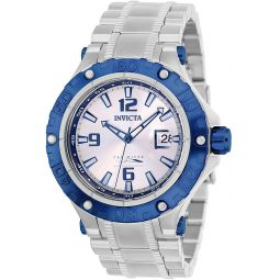 Invicta Mens Automatic-Self-Wind Watch with Stainless Steel Strap, Silver, 26 (Model: 27309)
