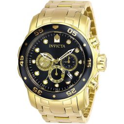 Invicta Mens Pro Diver Quartz Watch with Stainless Steel Strap, Gold, 26 (Model: 28720)