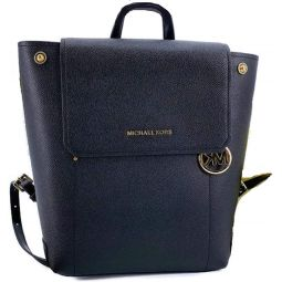 MICHAEL Michael Kors Hayes Medium Leather Backpack Bag Black