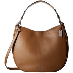 COACH Womens Natural Calf Nomad Hobo SV/Saddle Hobo