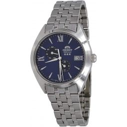 Orient RA-AK0505L Mens Tri Star Altair Stainless Steel Multifunction Blue Dial Automatic Watch