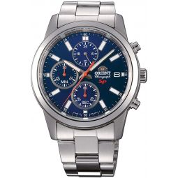 Orient Sports Watch FKU00002D0 - Stainless Steel Gents Quartz Chronograph