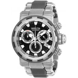 Invicta Mens Specialty Quartz Watch with Stainless Steel Polyurethane Strap, Silver, 30 (Model: 23976)