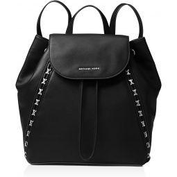 MICHAEL Michael Kors Sadie Medium Leather Backpack Black