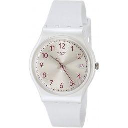 Swatch Essentials Quartz Silicone Strap, White, 16 Casual Watch (Model: GW411)