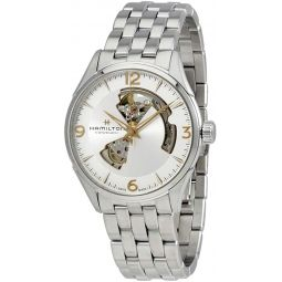Hamilton Mens Jazzmaster Open Heart - H32705151 Silver One Size