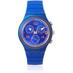 Swatch Mens YCN4009 Blue Silicone Watch