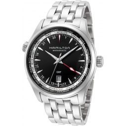 Hamilton Jazzmaster Black Dial GMT Stainless Steel Mens Watch H32695131