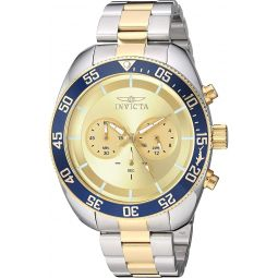 Invicta Mens Pro Diver Quartz Watch with Stainless Steel Strap, Two Tone, 24 (Model: 30057)