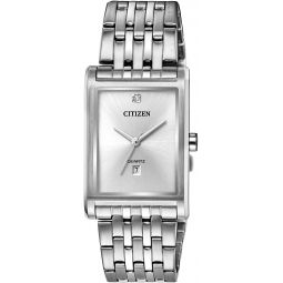 Citizen Mens Quartz Watch with Stainless Steel Strap, Silver, 20 (Model: BH3001-57A)