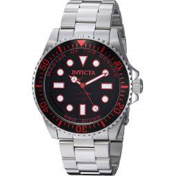 Invicta Mens 20121 Pro Diver Analog Display Swiss Quartz Silver Watch
