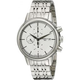 Tissot Mens T0854271101100 Carson Analog Display Swiss Automatic Silver Watch