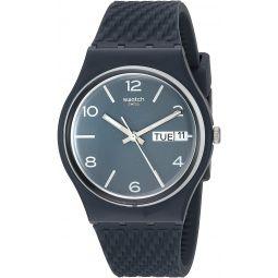 Swatch BAU Quartz Silicone Strap, Blue, 17 Casual Watch (Model: GN725)