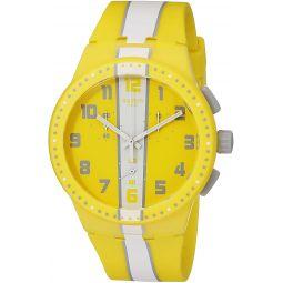 Swatch Unisex SUSJ100 Amorgos Analog Display Quartz Yellow Watch