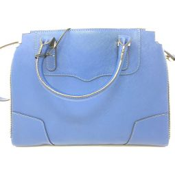 Rebecca Minkoff Amorous Satchel Blue Bag Tote Shoulder Hobo Handbag Leather