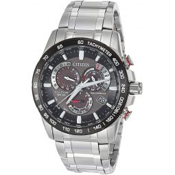 Citizen Mens PCAT Quartz Sport Watch with Stainless Steel Strap, Silver, 21.5 (Model: CB5898-59E)