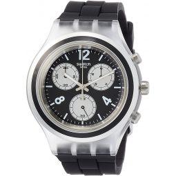 Swatch Eleblack Black Dial Mens Chronograph Watch SVCK1004