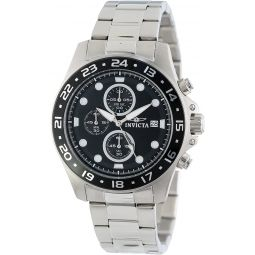 Invicta Mens 15204 Pro Diver Chronograph Black Dial Stainless Steel Watch