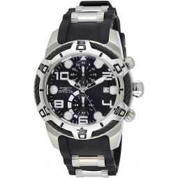 Invicta Mens Bolt Stainless Steel Quartz Watch with Silicone Strap, Two Tone, 26 (Model: 24215)