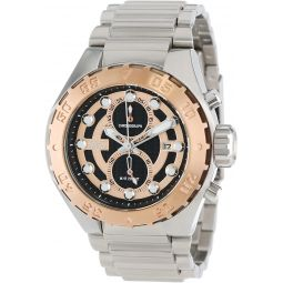 Invicta Mens 13091 Pro Diver Chronograph Black Textured Dial Stainless Steel Watch