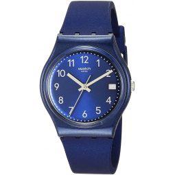 Swatch Essentials Quartz Silicone Strap, Blue, 16 Casual Watch (Model: GN416)