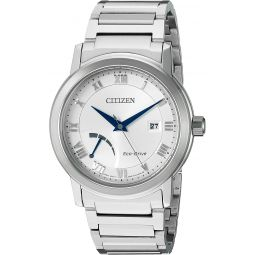 Citizen Mens Eco-Drive Dress Quartz Stainless Steel Casual Watch, Color:Silver-Toned (Model: AW7020-51A)