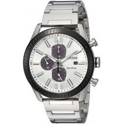 Citizen Mens Drive Japanese-Quartz Watch with Stainless-Steel Strap, Silver, 22 (Model: CA0668-52A)