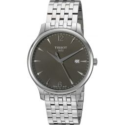 Tissot Mens T0636101106700 Silver-Tone Stainless Steel Anthracite Dial Watch