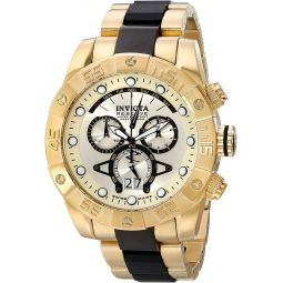 Invicta Mens 0333 Reserve Collection Leviathan II Chronograph 18k Gold-Plated Watch