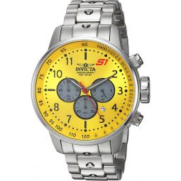 Invicta Mens S1 Rally Quartz Watch with Stainless-Steel Strap, Silver, 11 (Model: 23085)