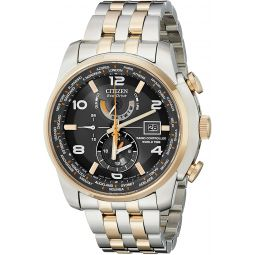 Citizen Mens AT9016-56H World Time A-T Stainless Steel Two-Tone Eco-Drive Watch