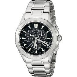 Citizen Mens Eco-Drive Signature Chronograph Watch with Date and Alarm, BL5460-51E