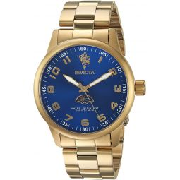 Invicta Mens Sea Base Quartz Watch with Stainless-Steel Strap, Gold, 22 (Model: 23824)