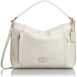 Coach Scout Hobo in Pebble Leather 34312 Chalk