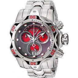 Invicta Mens Venom Quartz Watch with Stainless Steel Strap, Silver, 26 (Model: 26137)
