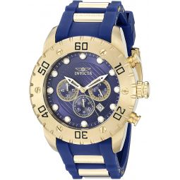 Invicta Mens 20280SYB Pro Diver Stainless Steel Watch With Blue PU Band