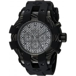 Invicta Mens Bolt Stainless Steel Quartz Watch with Silicone Strap, Black, 32 (Model: 23865)