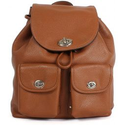 COACH Womens Turnlock Rucksack Backpack Style;F37582 SV/Saddle