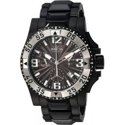 Invicta Mens Excursion Quartz Watch with Stainless-Steel Strap, Black, 26 (Model: 23907)