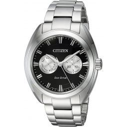 Citizen Mens Dress Japanese-Quartz Watch with Stainless-Steel Strap, Silver, 22 (Model: BU4010-56E)