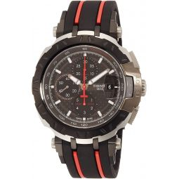 Tissot T-Race Black Dial Silicone Strap Mens Watch T0924272720100
