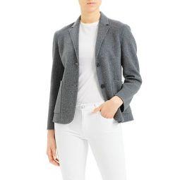 Wool-Blend Shrunken Blazer
