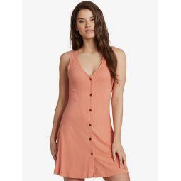 Dream Do Buttoned Rib Knit Dress
