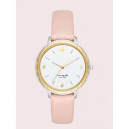 morningside blush leather watch