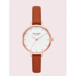 metro luggage leather watch